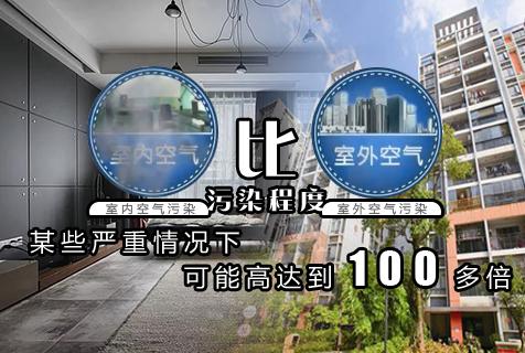 室内污染气体比室外空气严重100倍!